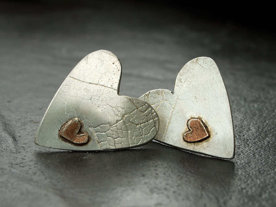 Heart heart earings