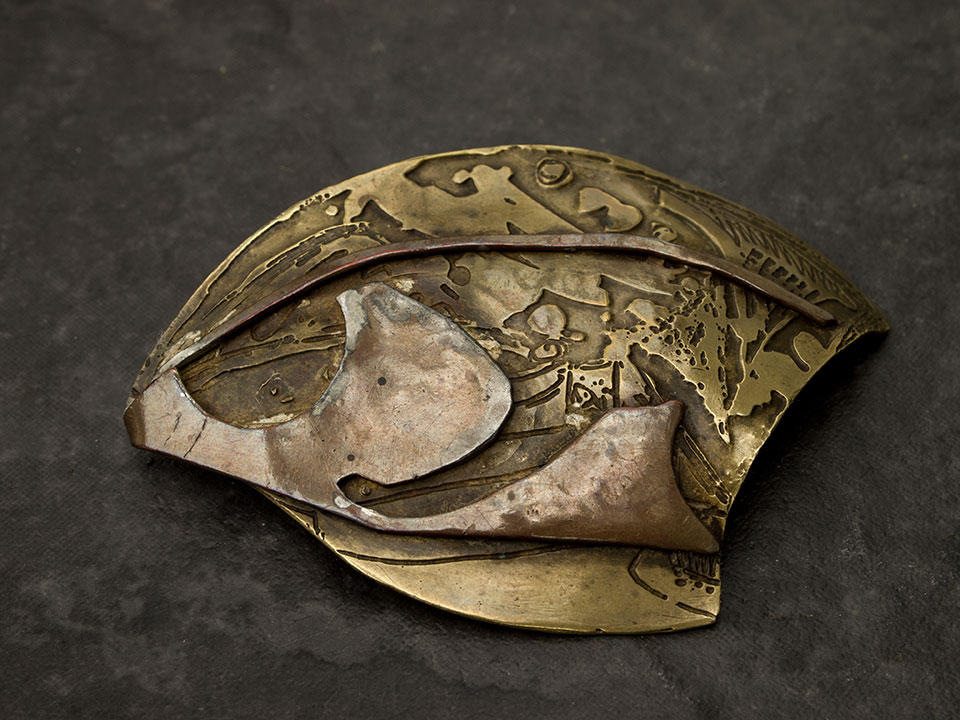 shield brooch