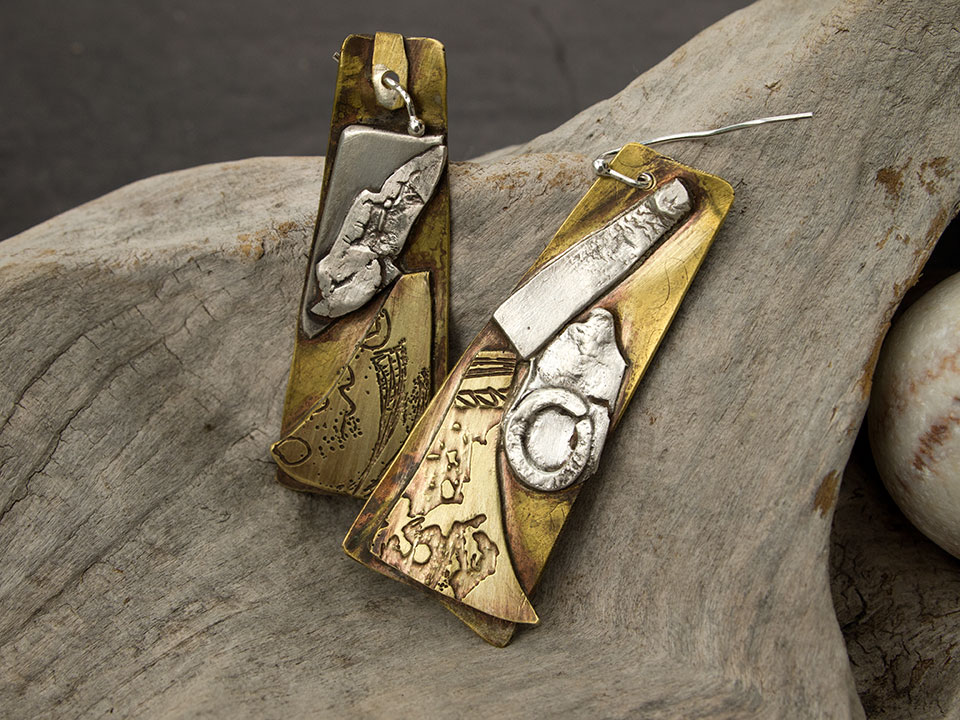 silver brass drops
