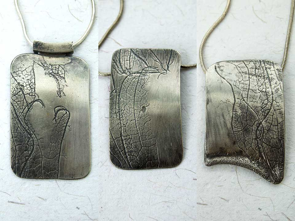 Silver Leaves necklaces