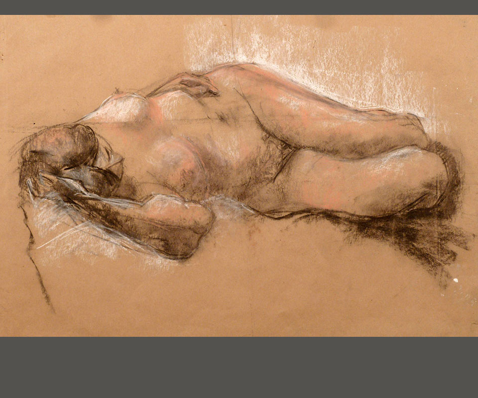 Sleeping Nude by Pauline Latham